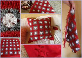 Crocheted Pillow by YinUkume