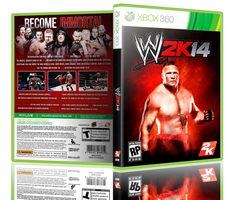 WWE2K14 Alternate Cover featuring Brock Lesnar by eduard2009