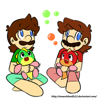mario and luigi bobbles by MariobrosYaoiFan12