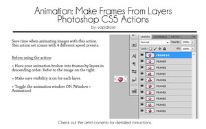 Make Frames From Layers Photoshop Actions by VapidRose