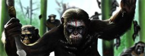Dawn Of Apes by ezakytheartist