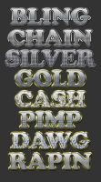 Bling Text Effects by xstortionist