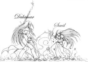 Dalamar and Savil by Dottwing