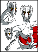 Clone Wars: Grievous Doodles by PurpleRAGE9205