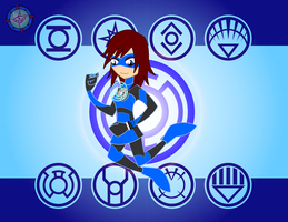 Blue Lantern - Kairi by Dragon-FangX