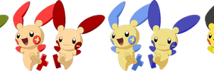 SSB4 Plusle and Minun Palette Swaps (My Take) by PichuThePokemon