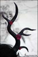Rose BJD antlers by Sarqq