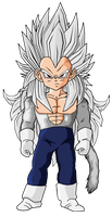 Kid Vegeta SSJ5 by RobertoVile