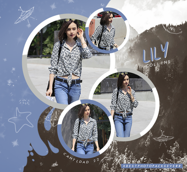 Photopack 26833 - Lily Collins by xbestphotopackseverr