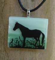 Grazing Fused Glass Pendant by FusedElegance