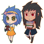 Gajevy chibis by wolfz206