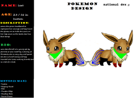 Lexi the eevee ref with more details by avrilrocks1200