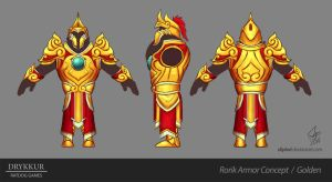 Golden Armor Concept by slipled