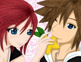 Kairi and Sora Share by spades7717