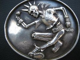 Skeleton belt buckle by flintlockprivateer