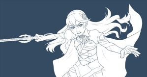 FE14 Kamui Sketch by MarvelPoison