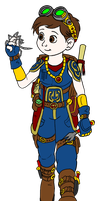 Eli Artificer colored by Timothius