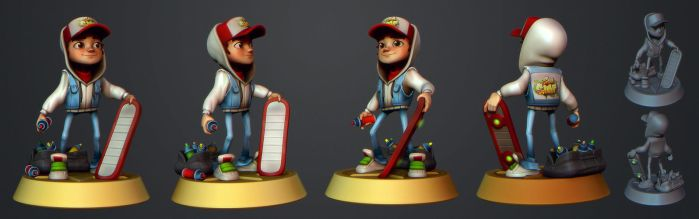 Subway Surfers Jake Fanart by polyphobia3d