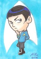 Mister Spock Art Card by kevinbolk