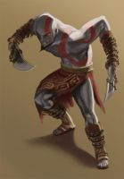Kratos- The God of War by JeiWo