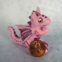 Teeny Pink Dragon by kaikaku
