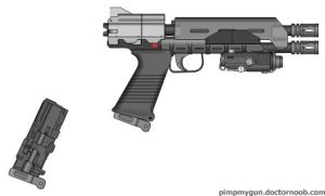 Repeating Blaster Pistol by GeneralRich