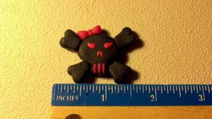 Skull and Crossbones Barrette by UntouchedRayne