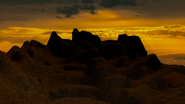 Dirt road to view sunset by evilpaw24614