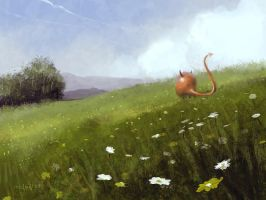 Devil on meadow by Medhi