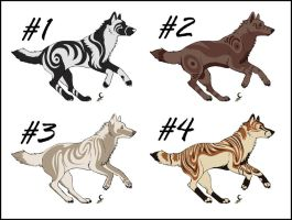 Wolf Adoptables Set 3 .CLOSED. by Dragara