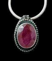 Ruby Pendant by SoulStoneDesigns