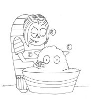 Bath time, Mr. Whiskers by sailorlovesong