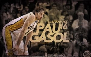 Pau Gasol Lakers Wallpaper by IshaanMishra