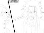 Bleach 573 - Because I Am... The KENPACHI(lineart) by KamiraCChan