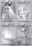 Heroes Sketch cards -Lovechild by jasonpal