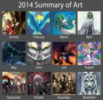 2014 Summary of Art by Silverbloodwolf98
