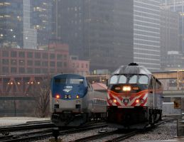 Amtrak and Metra inbounds by JamesT4