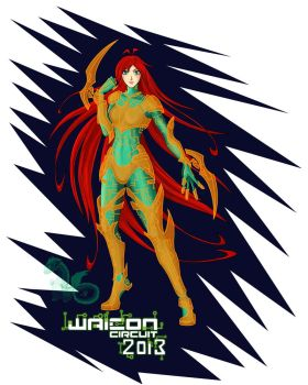 Waicon Mascot Jacket Design by Lil1Dragon