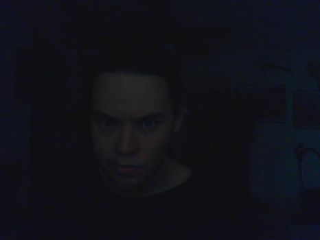 Me. Perplexed in the dark. by X2Magneto