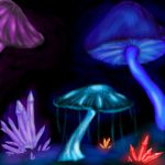 Bioluminescent Fungi by GalanorBrighteye