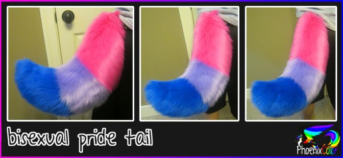 bisexual pride tail by PhoenixColor