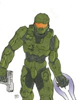 Master Chief- colored by MikeDimayuga
