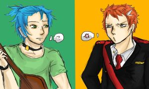 Request: The Guitarist and the Ginger by ShiroGinko
