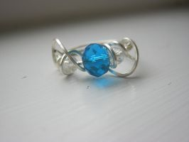 blue spiral ring by faranway