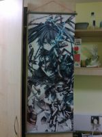 First Anime Merc - Black Rock Shooter Tapastry by Fire-Hazard1