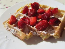 Strawberry waffle delight by Santian69