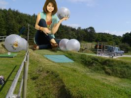 Zorbing with Selena by Accasbel