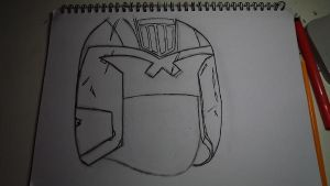 Dredd Sketch Mk2 by ChrisM38