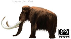Mammoth side view concept by flockenpracht