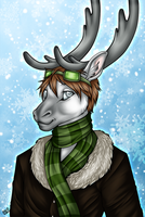 Dominic - Winter Bust Commish by kcravenyote